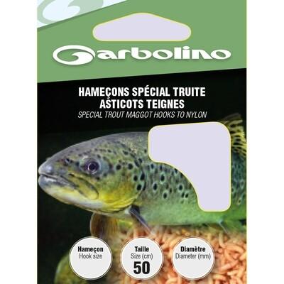 Hameçons spécial truite asticot-teigne 50cm
