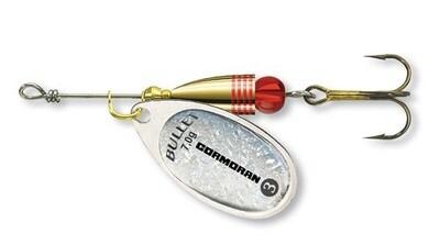 Bullet spinner Silver hologr.