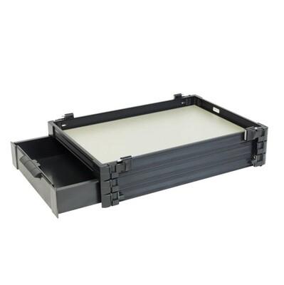 Bloc casier 30mm + tiroir 60mm noir