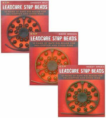 Leadcore stop beads