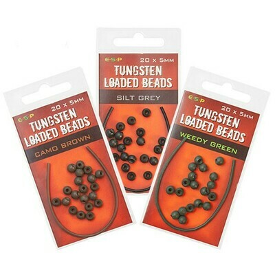 Tungsten loaded beads