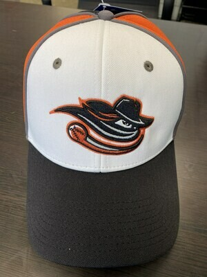 Black, White, Orange, and Gray Adj Hat