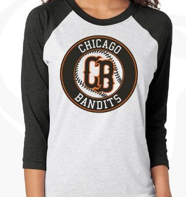 Softball Black Raglan