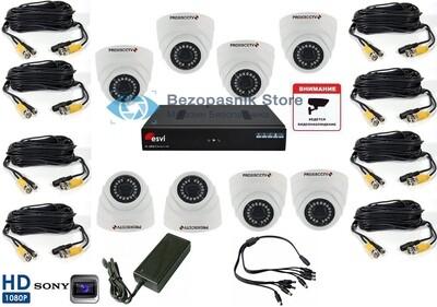 Готовый комплект Full HD видеонаблюдения на 8 камер