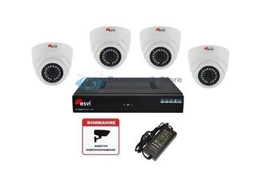Готовый ip комплект Full HD видеонаблюдения на 4 камеры