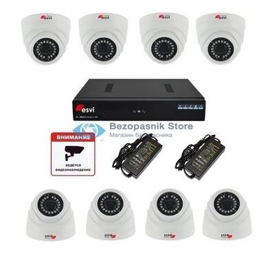 Готовый ip комплект Full HD видеонаблюдения на 8 камер