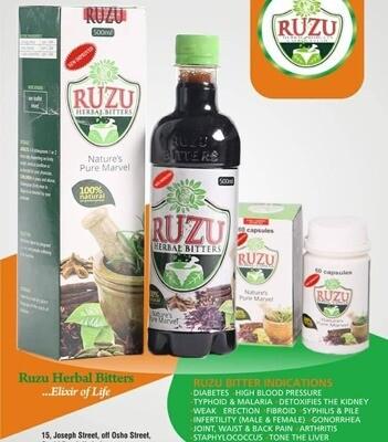 Ruzu Bitters Herbal Remedy 500ml X 3