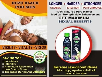 Ruzu Black For Men Pack Of 5 Bottles