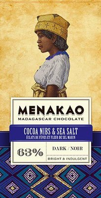MENAKAO 63% Cacao Nibs & Sea Salt