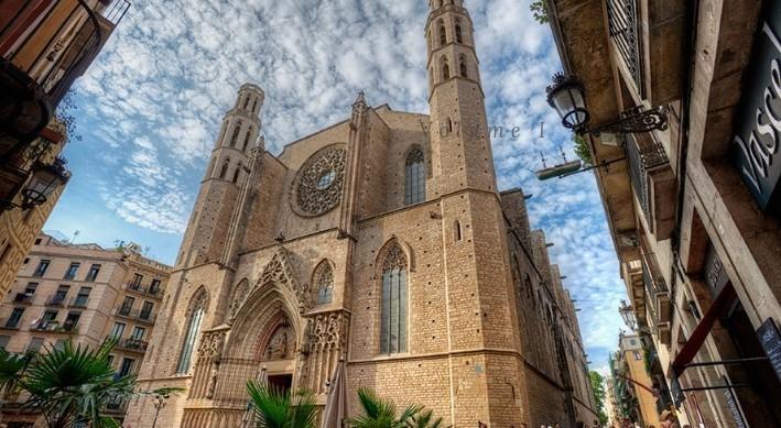 Santa Maria del Mar i el seu entorn (+ 8eur de donatiu per l'entrada i pujada als terrats)