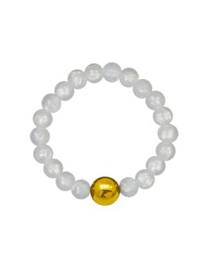 NEIGUAN® -ACUPRESSURE BRACELET -set (Pearl White, Gold)