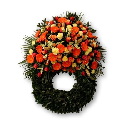 Bouquetkranz Four Season orange