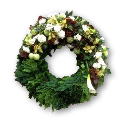 Bouquetkranz Four Season weiss/grün