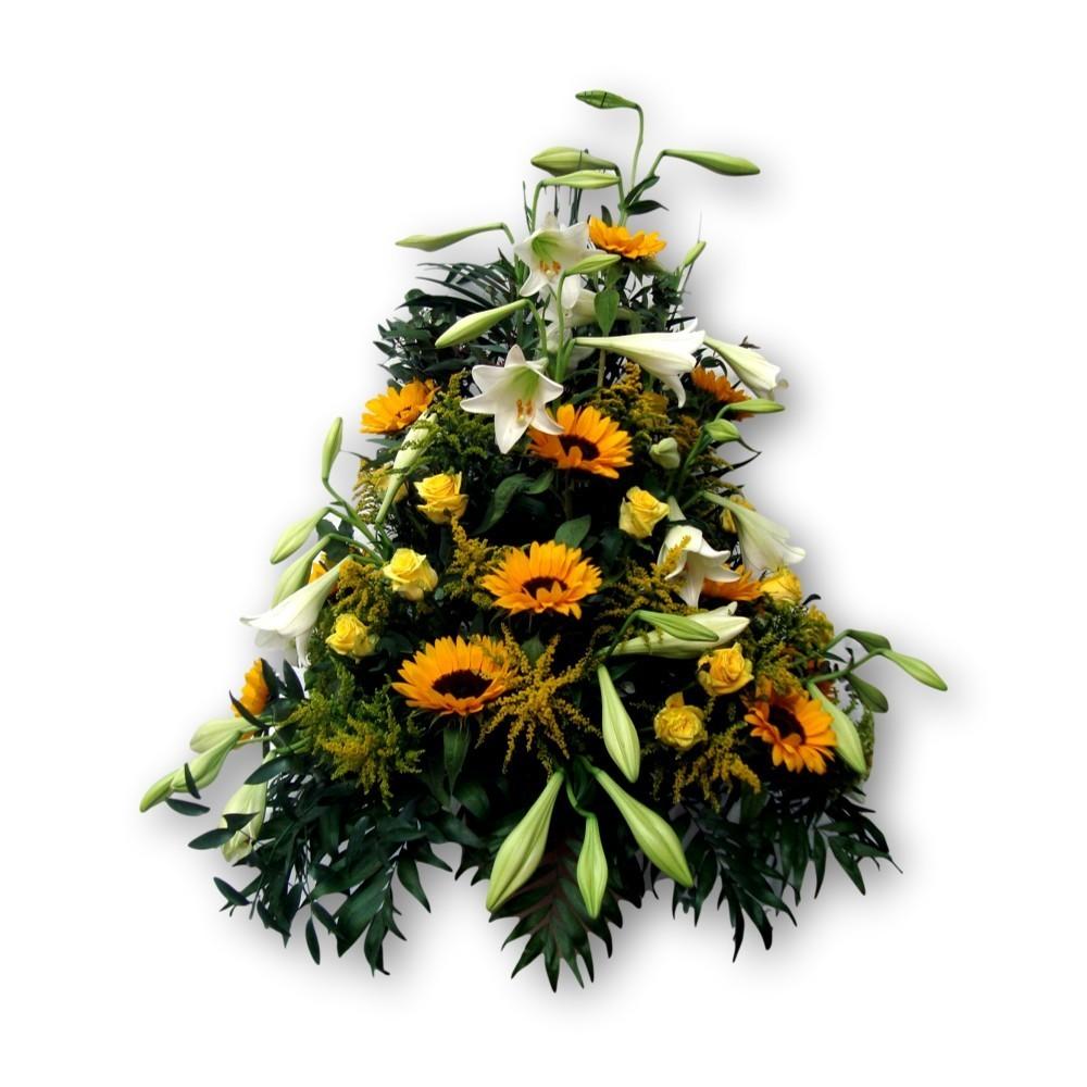 Dreieckgesteck Sonnenblumen gelb/weiss
