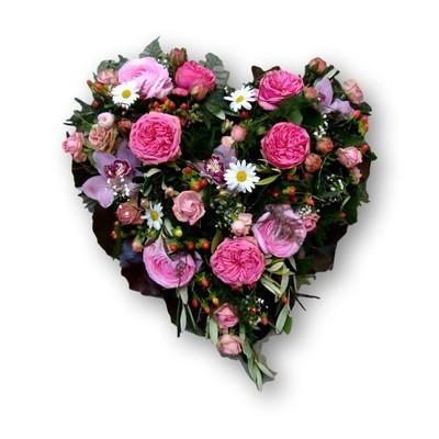 Herz rosa/weiss