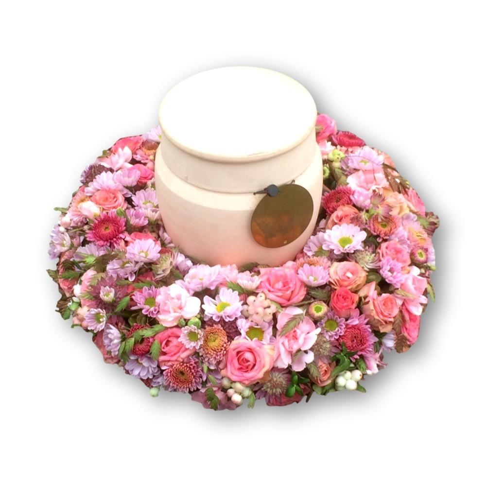 Urnenschmuck Four Season - pastell/rosa