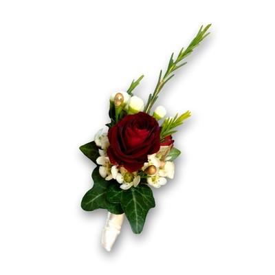 Anstecker Hochzeit Rose rot