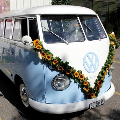 Autoschmuck Girlande pro Meter - Sommerblumen