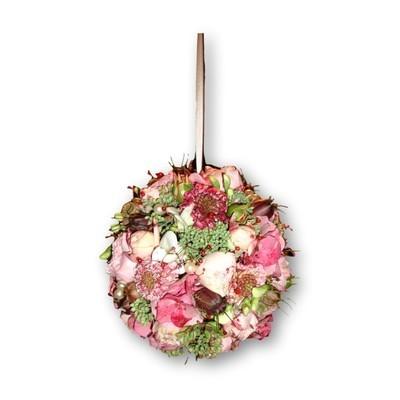 Brautstrauss Kugel - rosa/grün