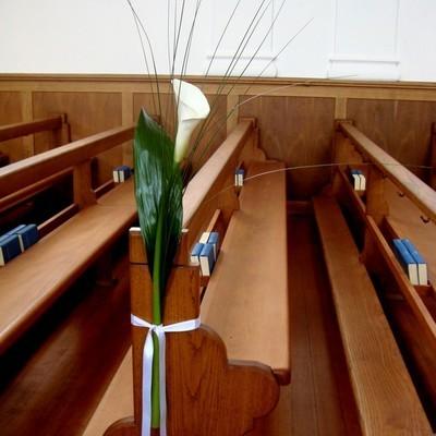 Kirchendeko Bankstrauss weisse Calla