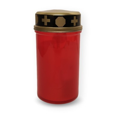Grabkerze rot elektrisch (inkl. Batterie)