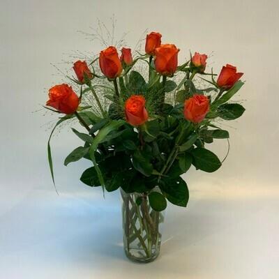 Rosen orange mit grün