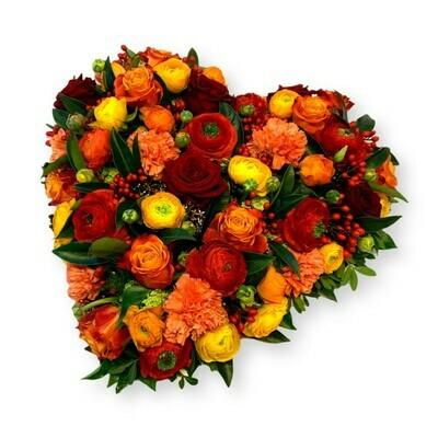 Herz orange/rot