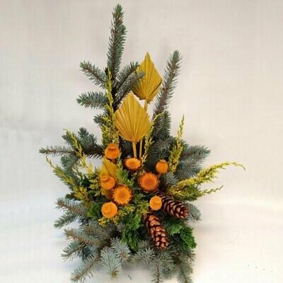 Winterarragement orange