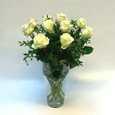 Rosen weiss mit grün