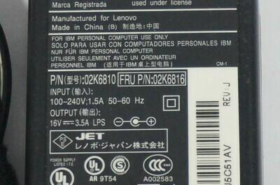 02K6816 - IBM ThinkPad AC Adapter Liteon X22/X30/40