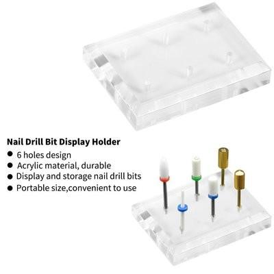 [generic] Nail Drill Bits Holder (6 Holes)