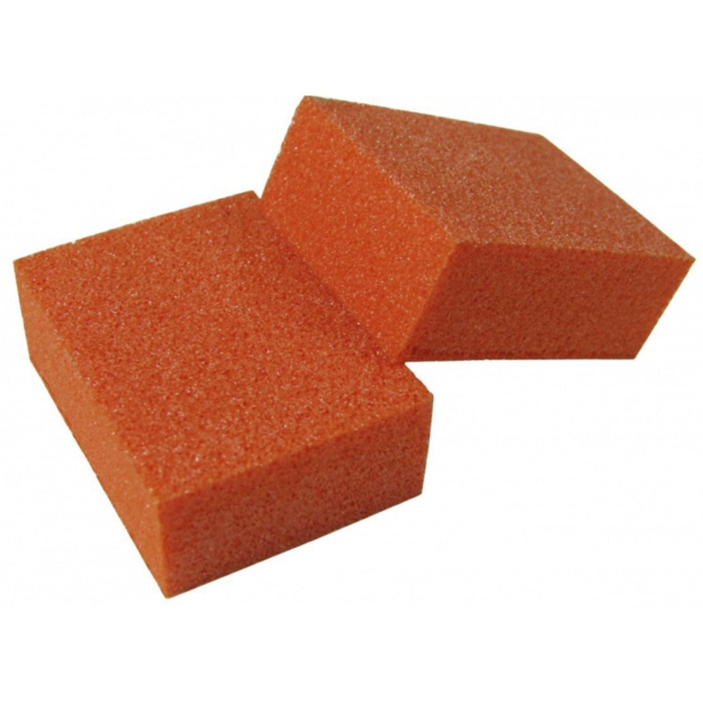[generic] Double Sided Mini Buffer Block (Orange) (80/100 grit)