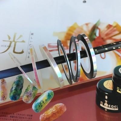 [generic] Nail Art Strip Tape Sticker (Transparent Rainbow&Silver Rainbow)