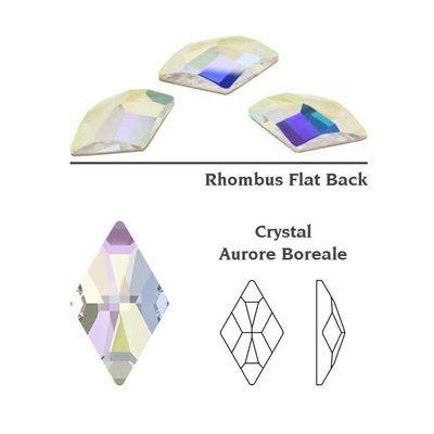 [SWAROVSKI] 2709 Rhombus Flat Back Crystal (AB) (10x6 mm) (6pcs)
