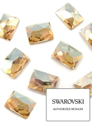 [SWAROVSKI] 2520 COSMIC FLAT BACK CRYSTAL (GOLDEN SHADOW) (10X8MM)