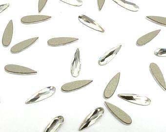 [SWAROVSKI] 2304 RAINDROP FLAT BACK CRYSTAL (6*1.7 / 10*2.8 / 14*3.9mm)