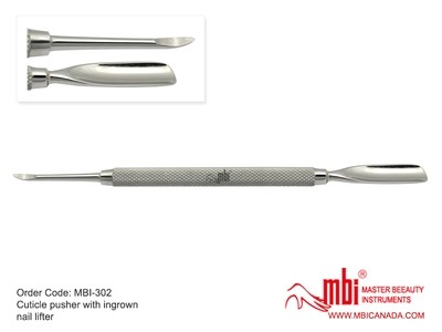 [MBI] 302 Cuticle Pusher with Ingrown Nail Lifter