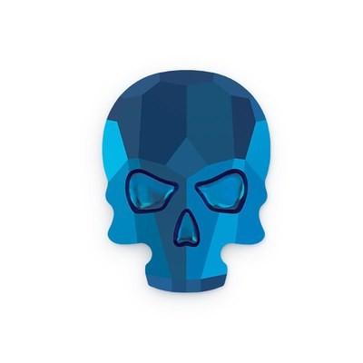 [SWAROVSKI] 2856 SKULL FLAT BACK METALLIC BLUE (10X7.5MM)