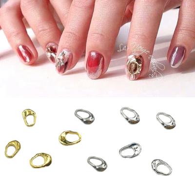 [generic] Metal Rings Part Nail Decoration (20pcs),(Gold&Silver)