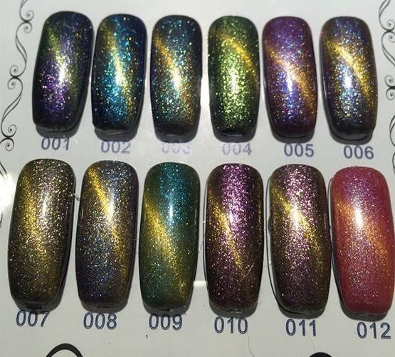 [Present] Gel Polish Sparkle Cat Eye Collection (12 colours)