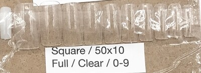 [generic] Square Full Nail Tips Set (clear)