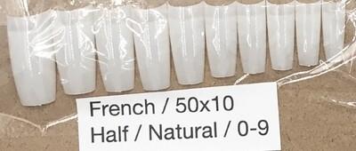 [generic] French Half Nail Tips Set (natural)