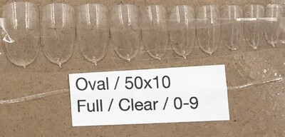 [generic] Oval Nail Tips Set (clear)