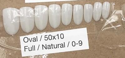 [generic] Oval Nail Tips Set (natural)