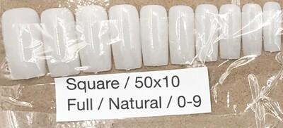[generic] Square Full Nail Tips Set (natural)