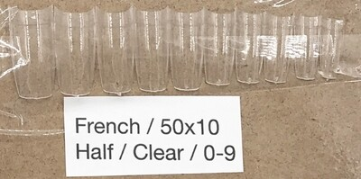 [generic] French Half Nail Tips Set (clear)
