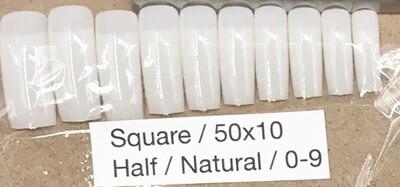 [generic] Square Half Nail Tips Set (natural)