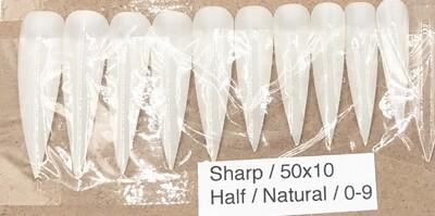 [generic] Sharp Half Nail Tips Set (natural)