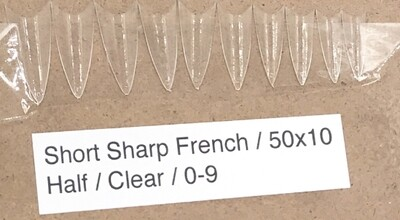 [generic] Short Sharp French Nail Tips Set (clear)