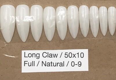 [generic] Long Claw Full Nail Tips Set (natural)